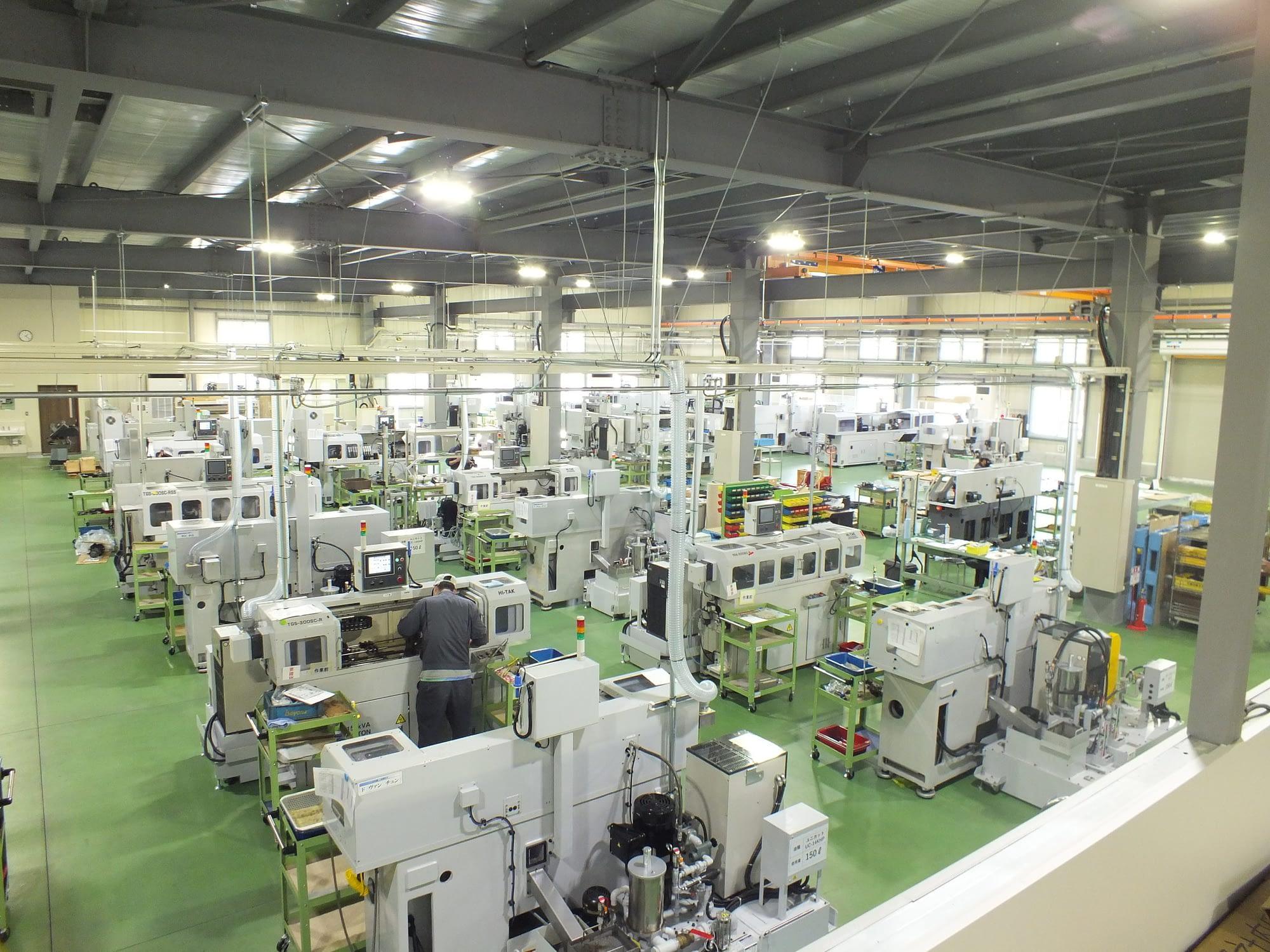 ガンドリル加工工場